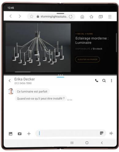 Ecran intérieur : une véritable tablette