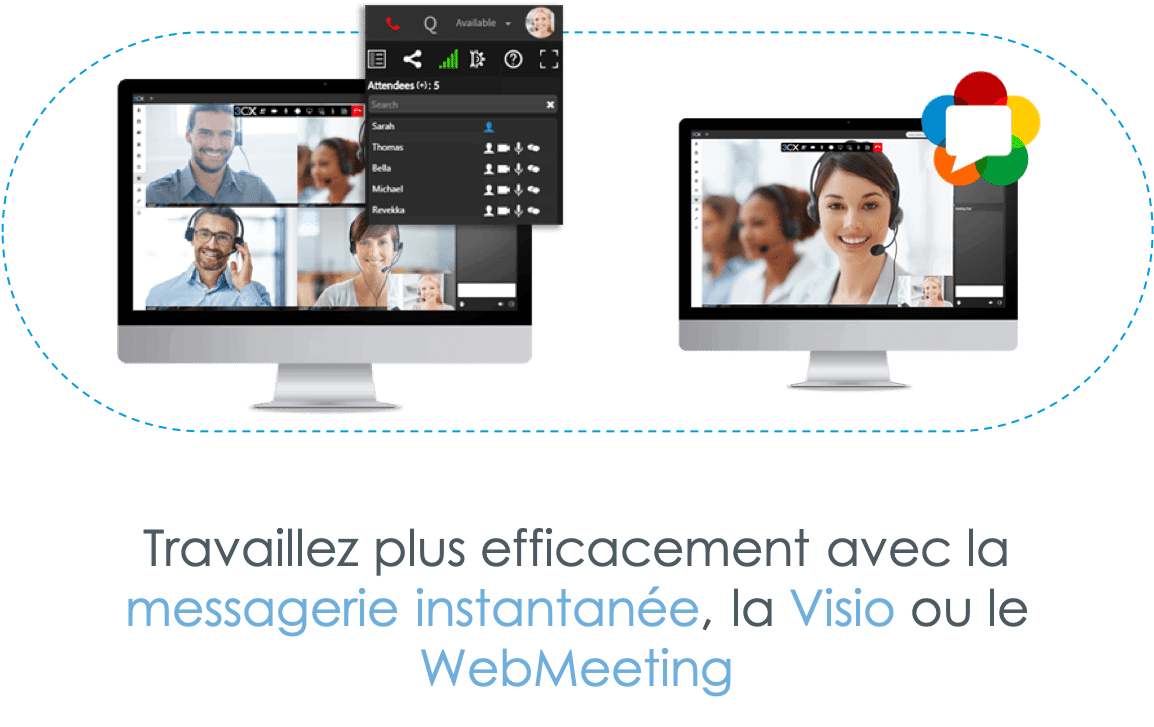 Simplyphonie - Messagerie instantanée - Visio - Webmeeting